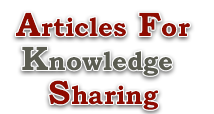 Articles For Knowledge Sharing